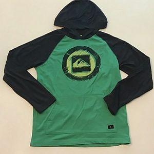 Quicksilver medium 10/12 green logo hoodie